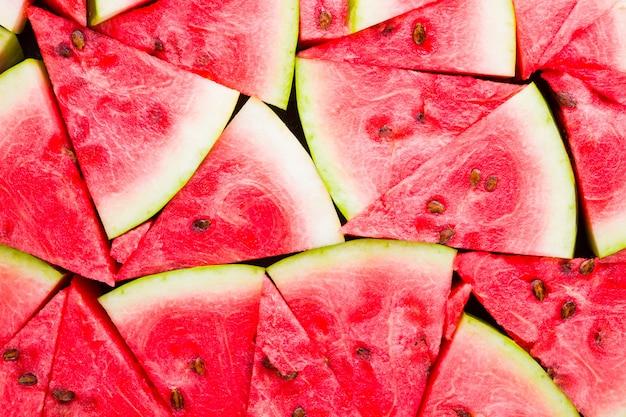 Melon d'eau mûr avec des graines.