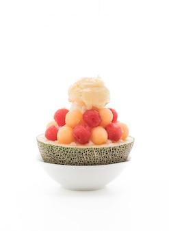 Melon de glace bingsu, célèbre glace coréenne