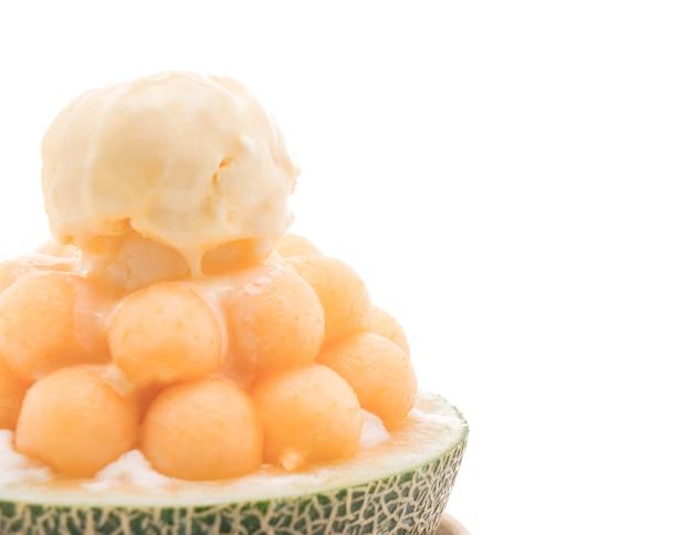 Melon glacé bingsu