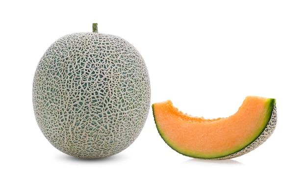 Melon isolé sur blanc.
