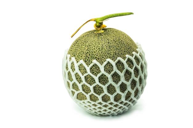 Un melon isolé sur fond blanc