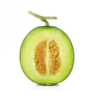 Melon isolé sur fond blanc