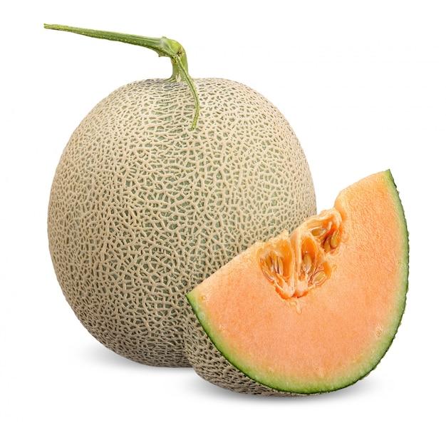 Melon isolé avec un tracé de détourage