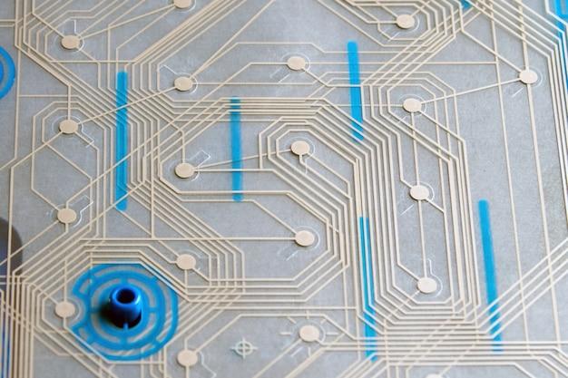 Membrane de circuit de clavier, gros plan