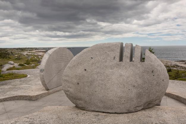 Mémorial du vol 111 de swissair à la zone de préservation de peggy's cove, peggy's cove, nouvelle-écosse, canada