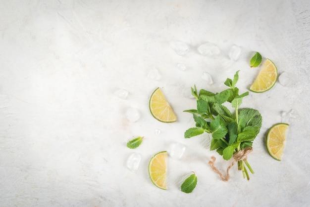 Menthe fraîche et citron vert