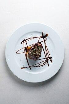Menu du restaurant filet mignon en sauce