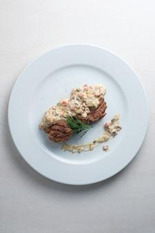 Menu du restaurant médaillons de boeuf sauce aux champignons