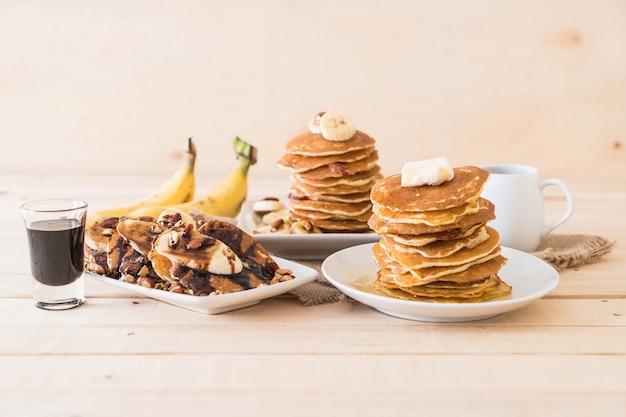 Menu varié de pancake