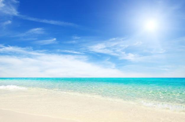 Mer tropicale et plage de sable