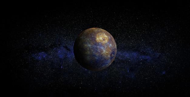 Mercure sur fond d'espace
