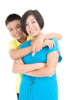 Mère asiatique et son fils