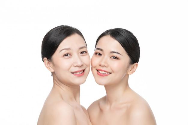 Mère et fille beauté soins de la peau