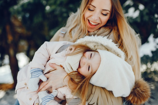 Mère avec fille