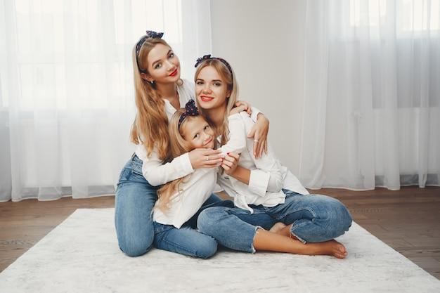 Mère avec filles