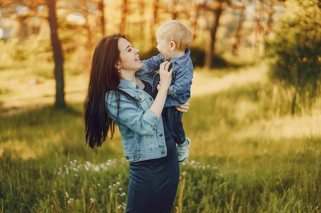 Mère avec fils