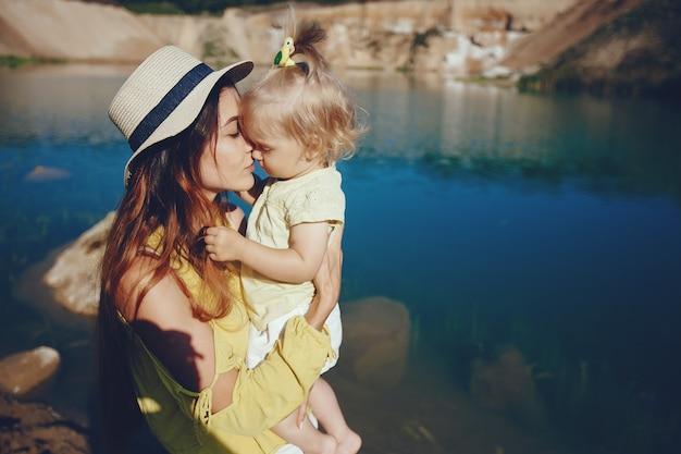Mère avec petite fille