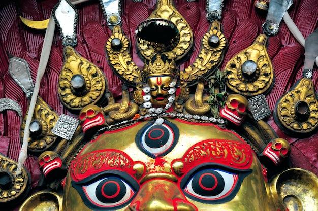 Une merveilleuse déesse durga au népal