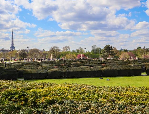 Merveilleux jardin des tuileries du palais du louvre au printemps paris france avril