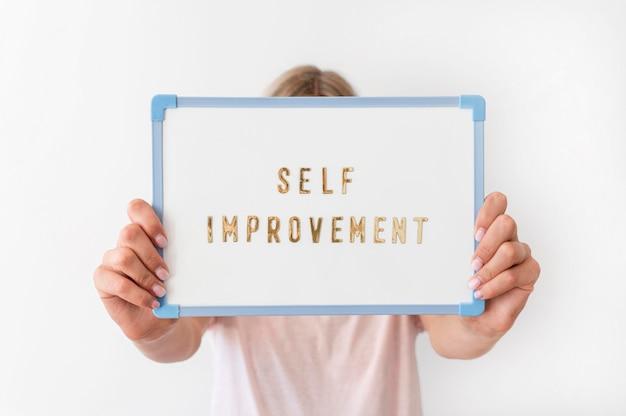 Message d'amélioration personnelle en gros plan