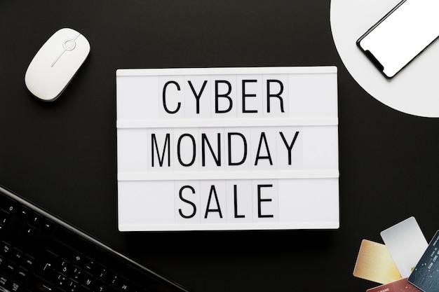 Message de cyber lundi commerce en ligne