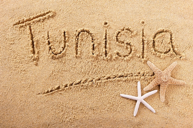 Message d'écriture de plage en tunisie