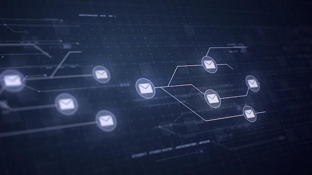 Messages de messagerie réseau circuit board connexion connexion technologie