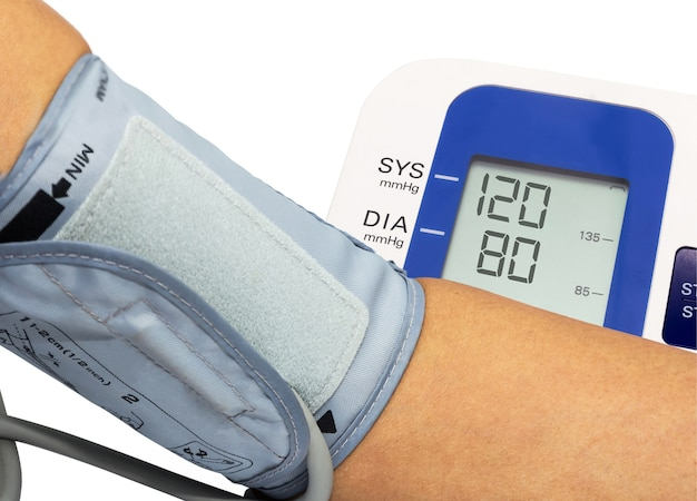 Mesure de la pression artérielle avec jauge de pression sanguine