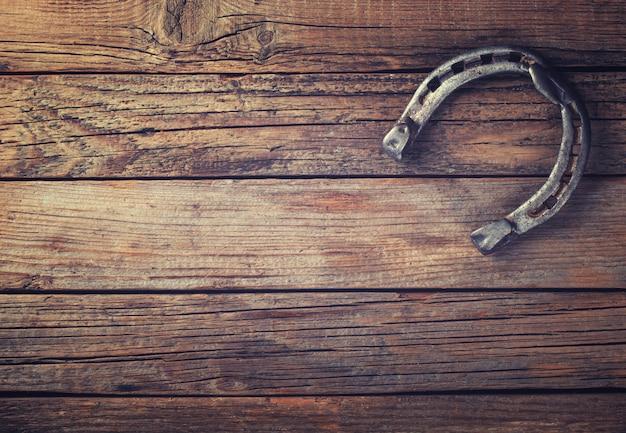 Métal fer à cheval vintage patiné