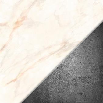 Métal grunge sur une texture de pierre en marbre