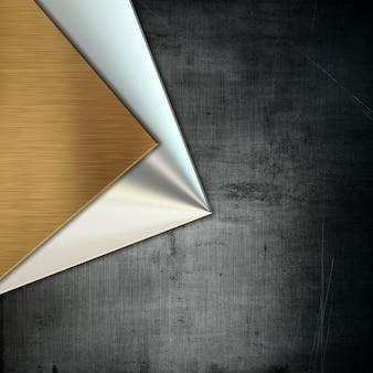 Métal de style grunge avec différentes textures métalliques