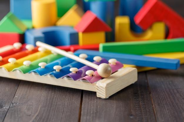 Métallophone xylophone pour enfants