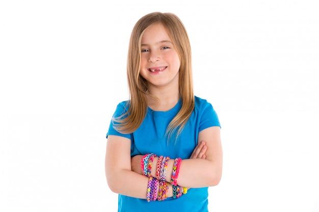 Métier élastiques bracelets fille gosse blond