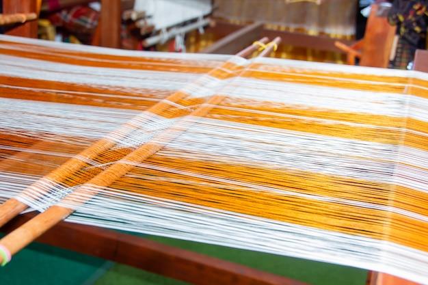 Métier à tisser - tissage domestique - utilisé pour le tissage de la soie thaïlandaise traditionnelle.