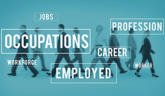 Métiers carrière emploi recrutement concept de poste