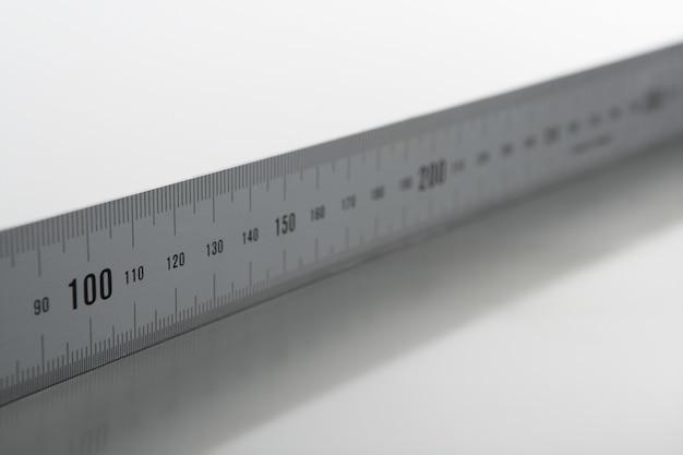 Mètre mètre en aluminium argenté