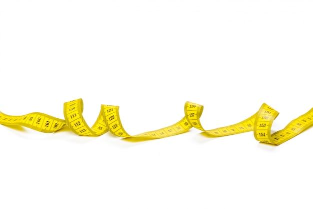 Mètre métrique jaune isolé