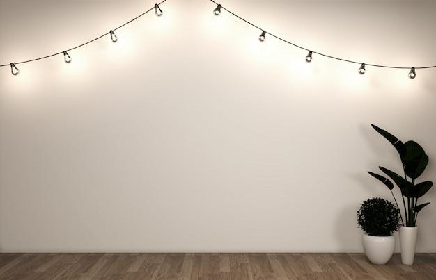 Meuble à affiches moderne dans le salon avec parquet blanc.