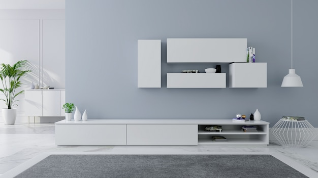 Meuble de télévision design d'intérieur idée moderne et confortable