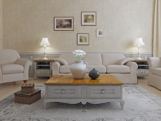 Meubles dans la vie shavvy-chic. idée de maison de luxe.
