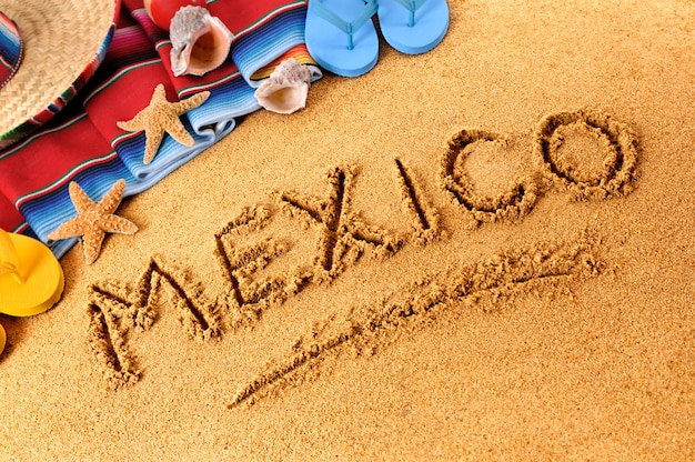 Mexique plage écriture