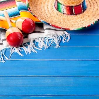 Mexique sombrero cinco de mayo fond bois