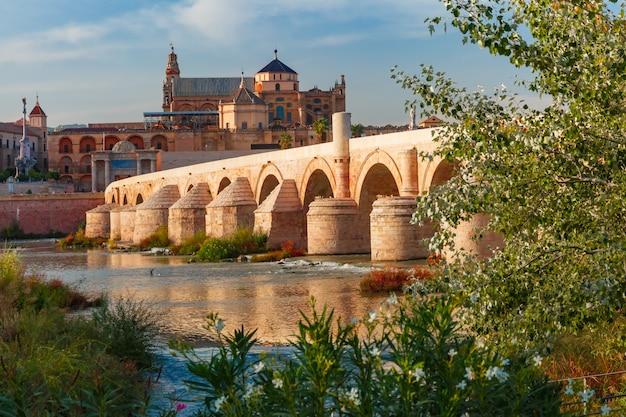 Mezquita et pont romain à cordoue, espagne