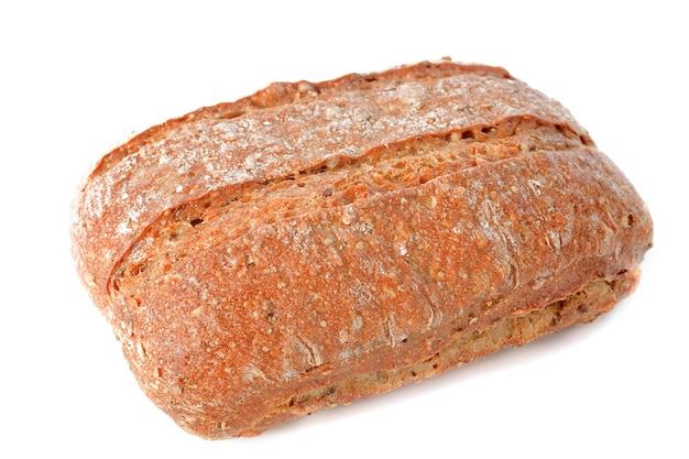 Miche de pain sur blanc