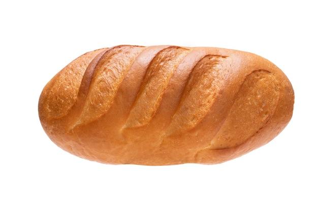Miche de pain isolé sur fond blanc