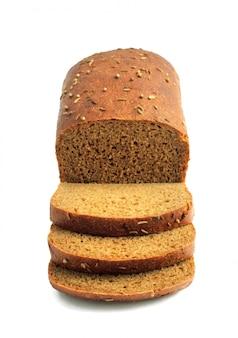Miche de pain de seigle avec des tranches