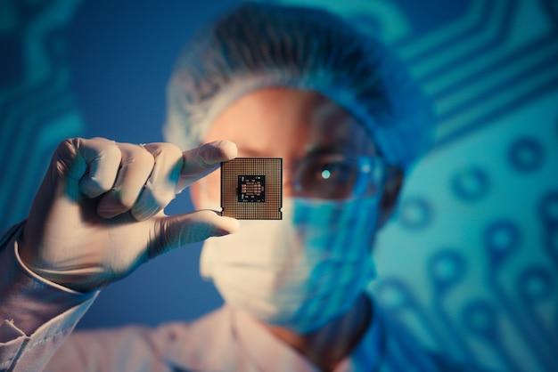 Microchip pour l'analyse