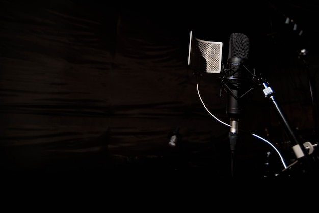 Microphone à condensateur studio avec filtre anti-pop