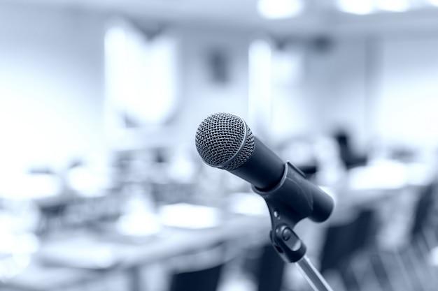 Microphone dans l'auditorium