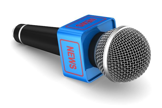 Microphone sur espace blanc. illustration 3d isolée